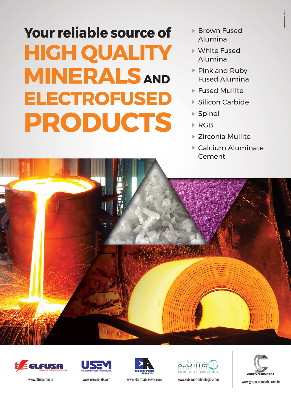 REVISTA INDUSTRIAL MINERALS E REVISTA REFRACTORIES WORLDFORUM
